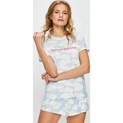 Undiz - Top piżamowy. Szare piżamy damskie Undiz, z nadrukiem, z dzianiny. W wyprzedaży za 49.90 zł.