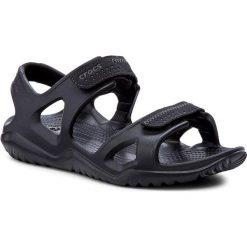 Sandały CROCS - Swiftwater River Sandal M 203965 Black/Black. Czarne sandały męskie Crocs, ze skóry ekologicznej. W wyprzedaży za 149.00 zł.