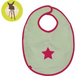 Śliniak bawełniany wodoodporny 6-24m Starlight magenta (LTEXBM068). Czerwone śliniaki dla dzieci Lassig, z bawełny. Za 54.29 zł.