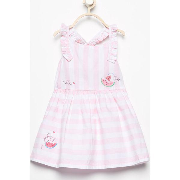eb9d54e39c Bawełniana sukienka w paski - Biały - Sukienki dla dziewczynek marki ...