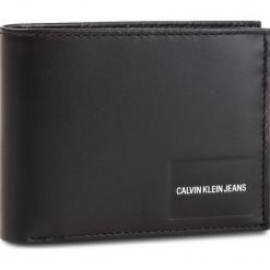 Duży Portfel Męski CALVIN KLEIN JEANS - Coated Canvas Bilfold Coin Pass K40K400831 001. Czarne portfele męskie Calvin Klein Jeans, z jeansu. Za 299.00 zł.