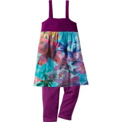 Sukienka + legginsy 3/4 (2 części) bonprix fiołkowy lila - wzorzysty. Legginsy dla dziewczynek marki bonprix. Za 32.99 zł.