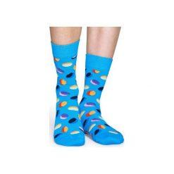 Skarpetki Happy Socks  PIL01-6001. Niebieskie skarpety męskie Happy Socks, z bawełny. Za 24.43 zł.