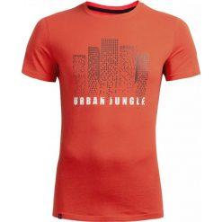 T-shirt męski TSM612 - czerwony - Outhorn. Czerwone t-shirty męskie Outhorn, z bawełny. W wyprzedaży za 29.99 zł.