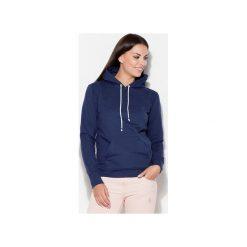 Bluza K093 Granat. Niebieskie bluzy damskie Katrus. Za 99.00 zł.