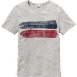 T-shirt z nadrukiem Regular Fit bonprix jasnoszary melanż. Szare t-shirty męskie bonprix, melanż. Za 34.99 zł.