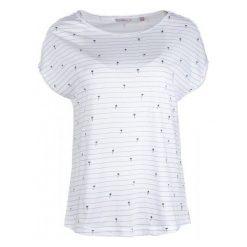 Mustang T-Shirt Damski Aop Xs Biały. Białe t-shirty damskie Mustang, w paski. W wyprzedaży za 89.00 zł.