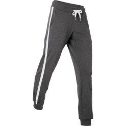 Spodnie sportowe, długie, Level 1 bonprix czarno-biały melanż. Spodnie dresowe damskie marki bonprix. Za 74.99 zł.