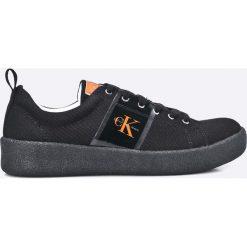 Calvin Klein Jeans - Tenisówki. Czarne trampki męskie Calvin Klein Jeans, z jeansu. W wyprzedaży za 299.90 zł.