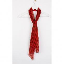 """Jedwabny szal """"Moupoule"""" w kolorze czerwono-czarnym - 145 x 43 cm. Czerwone szaliki i chusty damskie Scottage, z jedwabiu. W wyprzedaży za 45.95 zł."""