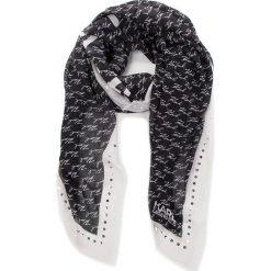 Chusta KARL LAGERFELD - 86KW3307 Black. Czarne szaliki i chusty damskie KARL LAGERFELD, z jedwabiu. Za 509.00 zł.