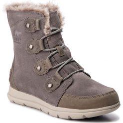 Śniegowce SOREL - Explorer Joan NL3039 Quarry/Black 052. Szare śniegowce i trapery damskie Sorel, z gumy. Za 629.99 zł.