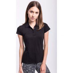 Koszulka polo damska TSD050z - czarny. Czarne koszulki sportowe damskie 4f, z bawełny, polo. W wyprzedaży za 39.99 zł.