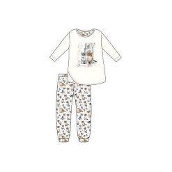 Piżama Kids Girl 030/98 Lovely Cats ecru r. 128. Szare bielizna dla dziewczynek Cornette. Za 52.67 zł.