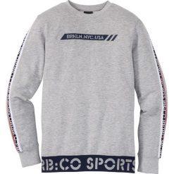 Bluza dresowa Slim Fit bonprix jasnoszary melanż. Szare bluzy męskie marki Calvin Klein Jeans, z nadrukiem, z bawełny. Za 74.99 zł.