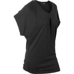"""T-shirt """"wellness"""" z krótkimi rękawami typu nietoperz bonprix czarny. T-shirty damskie marki DOMYOS. Za 54.99 zł."""
