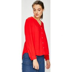 Levi's - Koszula. Brązowe koszule damskie Levi's, z materiału, z długim rękawem. Za 259.90 zł.