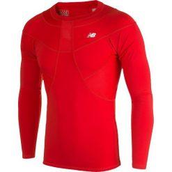 Koszulka kompresyjna - MT710136HRD. Czerwone koszulki sportowe męskie New Balance, na jesień, z materiału. Za 149.99 zł.