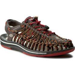 Sandały KEEN - Uneek Stripes 1014620 Red Dahlia/Raya. Brązowe sandały męskie Keen, z materiału. W wyprzedaży za 259.00 zł.