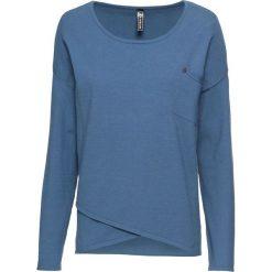 Sweter z założeniem kopertowym bonprix niebieski dżins. Swetry damskie marki bonprix. Za 99.99 zł.