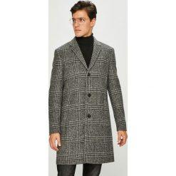 Calvin Klein - Płaszcz. Szare płaszcze męskie Calvin Klein, z materiału, klasyczne. Za 1,499.00 zł.