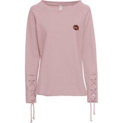 Bluza ze sznurowaniem bonprix stary jasnoróżowy. Bluzy damskie marki KALENJI. Za 99.99 zł.