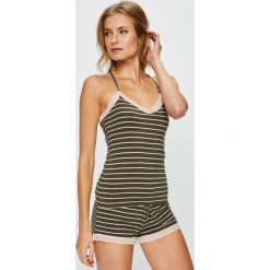 Undiz - Top piżamowy. Brązowe piżamy damskie Undiz, z dzianiny. W wyprzedaży za 34.90 zł.
