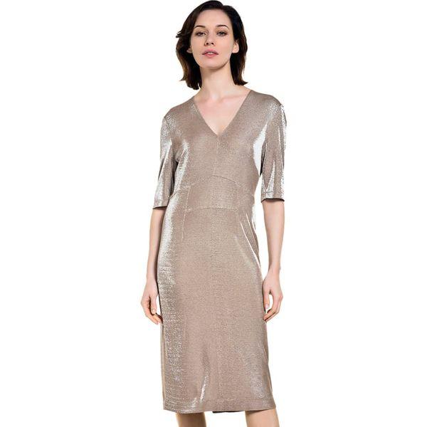8afbb8ffba Sukienka w kolorze beżowym - Sukienki damskie marki Deni Cler