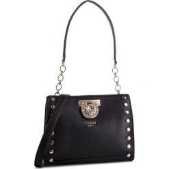Torebka GUESS - HWVG71 77140 BLACK. Czarne torebki do ręki damskie Guess, z aplikacjami, ze skóry ekologicznej. Za 599.00 zł.
