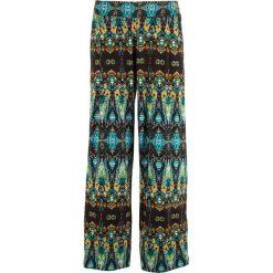 Spodnie palazzo z dżerseju bonprix kobaltowy turkusowy wzorzysty. Spodnie materiałowe damskie marki DOMYOS. Za 89.99 zł.