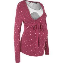 Sweter ciążowy /do karmienia piersią bonprix czerwony rododendron w kropki. Swetry damskie marki KALENJI. Za 89.99 zł.
