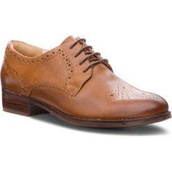 Oxfordy CLARKS - Netley Rose 261351694  Tan Leather. Brązowe półbuty damskie Clarks, ze skóry. W wyprzedaży za 319.00 zł.