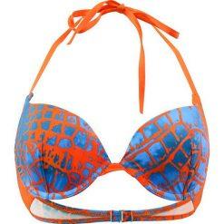 """Biustonosz bikini """"Canebier"""" w kolorze pomarańczowo-niebieskim. Biustonosze Val d´Azur, z haftami. W wyprzedaży za 165.95 zł."""