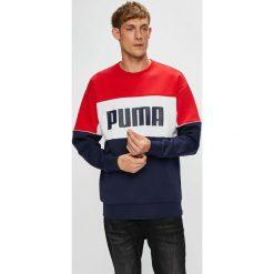 Puma - Bluza. Szare bluzy męskie Puma, z nadrukiem, z bawełny. W wyprzedaży za 239.90 zł.