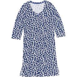 Koszula nocna bonprix szafirowo-biały wzorzysty. Niebieskie koszule nocne damskie bonprix, z bawełny. Za 34.99 zł.
