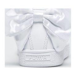 Puma - Buty Basket Bow. Szare obuwie sportowe damskie Puma, z gumy. W wyprzedaży za 319.90 zł.