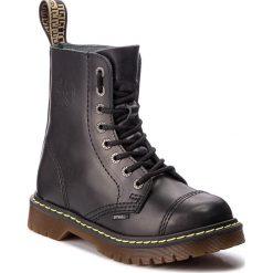 Glany STEEL - 113/AL/B Black. Czarne kozaki damskie Steel, ze skóry. Za 259.00 zł.
