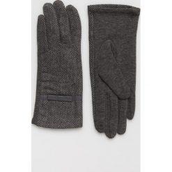 Answear - Rękawiczki. Czerwone rękawiczki damskie ANSWEAR, z dzianiny. Za 49.90 zł.