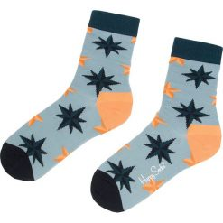 Skarpety Wysokie Unisex HAPPY SOCKS - NST01-6000 Niebieski. Niebieskie skarpety męskie Happy Socks, z bawełny. Za 34.90 zł.