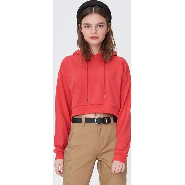 Krótka bluza z kapturem Pomarańczowy