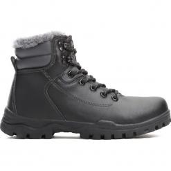 Czarne Traperki Sinking Ship. Czarne buty zimowe chłopięce Born2be, z materiału. Za 79.99 zł.