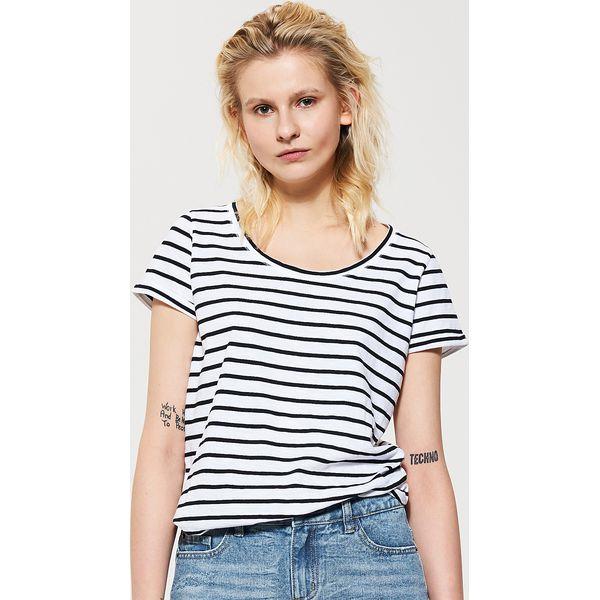 53d29c9fd70d5 T-shirt basic w paski - Wielobarwn - T-shirty damskie marki House