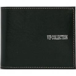 VIP COLLECTION - Portfel skórzany. Czarne portfele męskie VIP COLLECTION, z materiału. Za 249.90 zł.