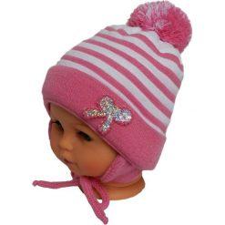 Czapka niemowlęca z szalikiem CZ+S 009C różowa. Czapki dla dzieci marki Reserved. Za 36.70 zł.