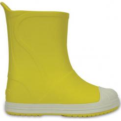 """Kalosze """"Bump It"""" w kolorze żółtym. Żółte kalosze dziewczęce marki Crocs. W wyprzedaży za 82.95 zł."""
