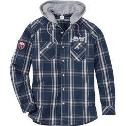 Koszula z długim rękawem i odpinanym kapturem Regular Fit bonprix głęboki niebieski w kratę. Niebieskie koszule męskie bonprix, z nadrukiem, z kapturem, z długim rękawem. Za 89.99 zł.
