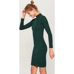Sukienka mini z długimi rękawami - Zielony. Zielone sukienki damskie Mohito, z długim rękawem. Za 79.99 zł.