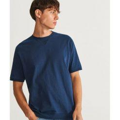 T-shirt z bawełny organicznej - Granatowy. Niebieskie t-shirty męskie Reserved, z bawełny. Za 59.99 zł.