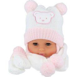 Czapka niemowlęca z szalikiem i rękawiczkami 124B biała. Czapki dla dzieci marki Reserved. Za 47.14 zł.