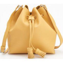 Torebka typu worek - Żółty. Torebki do ręki damskie marki bonprix. W wyprzedaży za 79.99 zł.